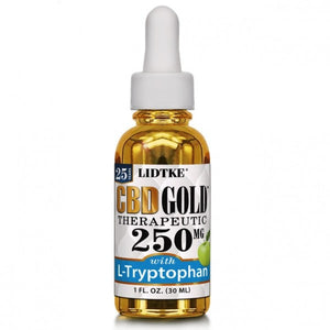 Full Spectrum CBD Gold oil with L-Tryptophan 250mg -1 Oz by Lidtke
