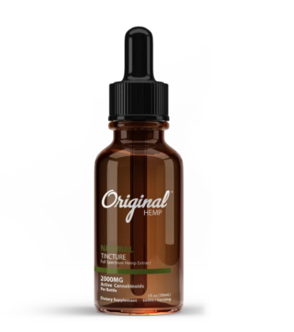 Natural Tincture | Full Spectrum Hemp Extract 2000mg - 30ml by Original Hemp