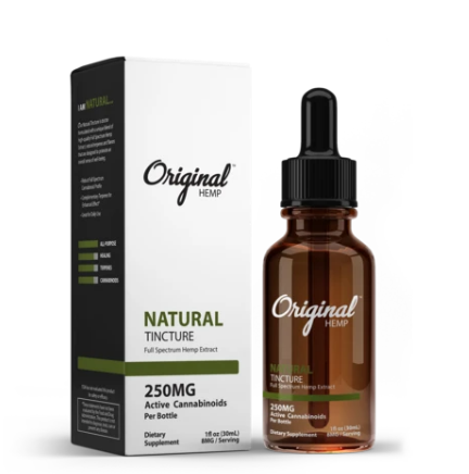 Natural Tincture | Full Spectrum Hemp Extract 250mg - 30ml by Original Hemp