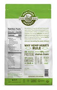 Manitoba Harvest Organic Hemp Hearts Shelled Hemp Seeds Delicious Nutty Flavor - 5lb