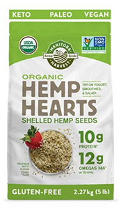 Organic Hemp Hearts Shelled Hemp Seeds Delicious Nutty Flavor - 5lb by Manitoba Harvest