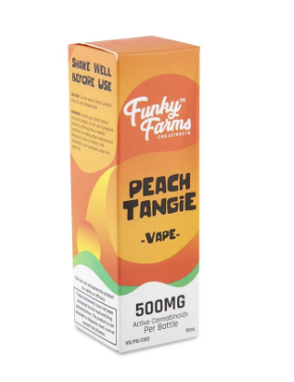 CBD Peach Tangie Vape Juice 500mg - 15 ml by Funky Farms
