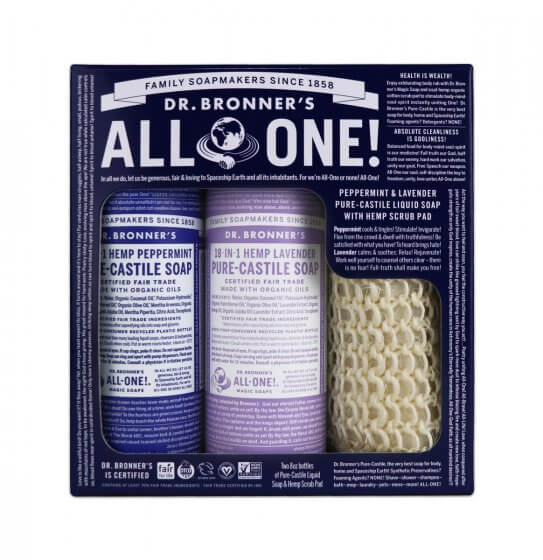 Peppermint & Lavender Pure-Castile Soap Gift Set - by Dr Bronner's