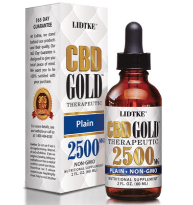 Full Spectrum CBD Gold oil plain 2500mg -1 Oz by Lidtke
