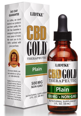 Full Spectrum CBD Gold oil plain 500mg -1 Oz by Lidtke