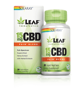 Leaf Therapeutics CBD VegCaps Pain Blend - 30 Count by Solaray