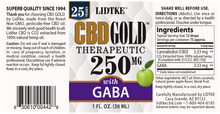 Load image into Gallery viewer, Lidtke Full Spectrum CBD Gold oil with GABA 250mg -1 Oz