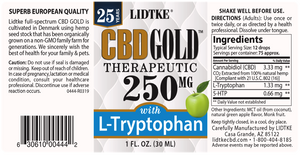 Lidtke Full Spectrum CBD Gold oil with L-Tryptophan 250mg -1 Oz