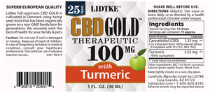 Lidtke Full Spectrum CBD Gold oil with Turmeric  100mg -1 Oz