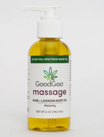Relaxing Massage Oil Rose + Lavender - 4 fl Oz by Green Goo