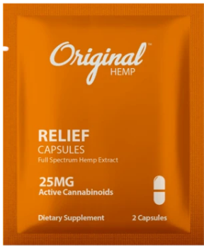 Relief Capsules (25mg) | Daily Dose - by Original Hemp