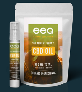 CBD Oil Spray Spearmint - 0.5 Oz by Eeq USA