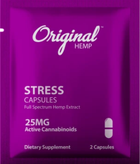 Hemp Stress Capsules (25mg) | Daily Dose- 2 caps by Original Hemp