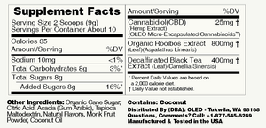 Tangerine CBD Drink Mix - 6 Packets by Oleo - facts