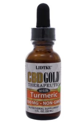 Full Spectrum CBD Gold oil with Turmeric 100mg -1 Oz by Lidtke