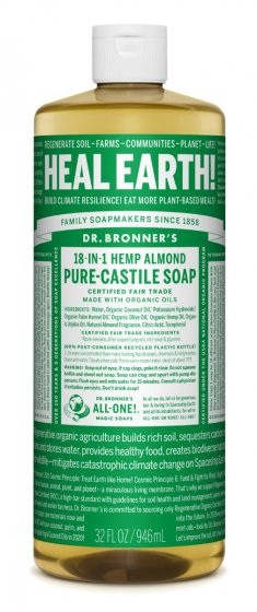 Pure Castile Liquid Soap Almond - 32 Oz by Dr Bronner's