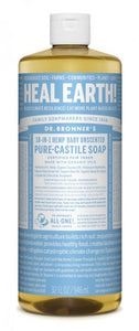 Pure-Castile Liquid Soap Baby Unscented - 32 Oz by Dr Bronner's