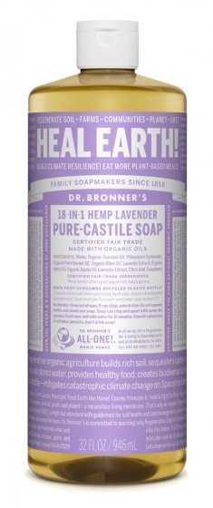 Pure Castile Liquid Soap Lavender - 32 Oz by Dr Bronner's
