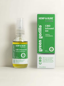 Certified Organic Pure CBD Oil 7500 mg - 2 oz