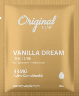 Hemp Extract Vanilla Dream Tincture (33mg) | Daily Dose - 1 ml by Original Hemp