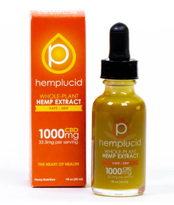 Full-Spectrum CBD Vape 1000mg - 1 Oz by Hemplucid