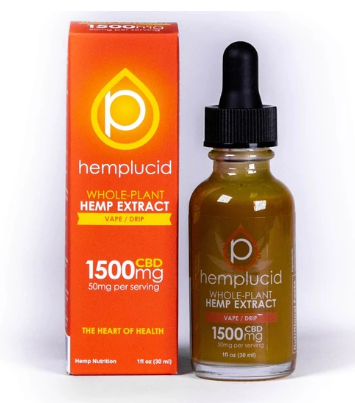 Full-Spectrum CBD Vape 1500mg - 1 Oz by Hemplucid
