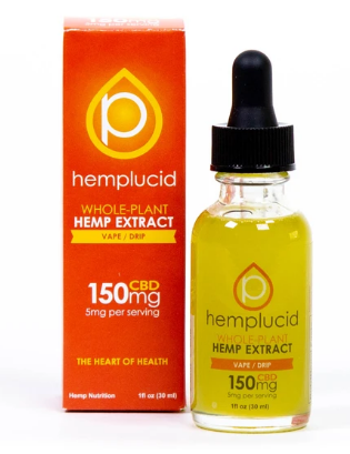 Full-Spectrum CBD Vape 150mg - 1 Oz by Hemplucid