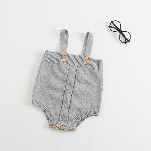 Pleated Kitted Romper