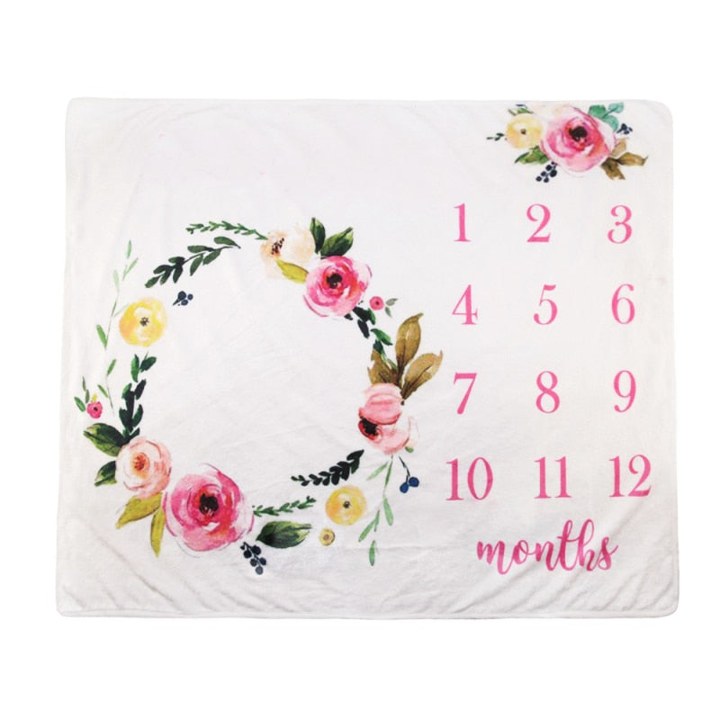 Baby Milestone Floral