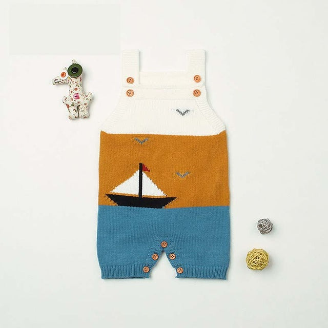 Knitted Romper 'Sailing'