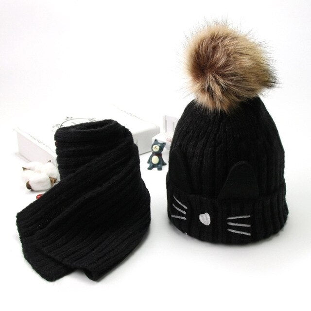 Winter Knitted Fur Hat