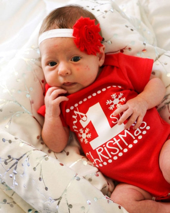 First Christmas Romper