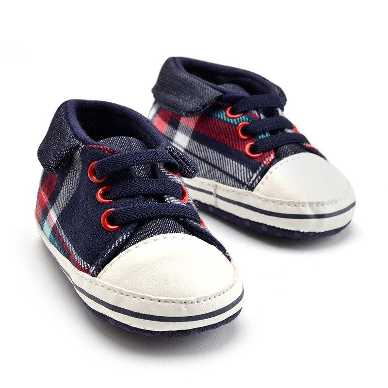 Gingham Baby Shoes