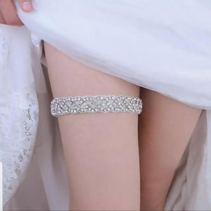 Bridal Box Crystal Encrusted Lace Garter