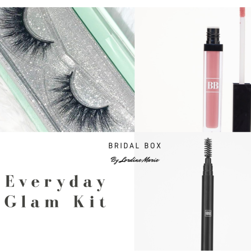 Everyday Glam Kit (Lashes, Lipgloss and Eyebrow Pencil)