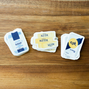 Waitress Sugar Butter Flour Sticker Set