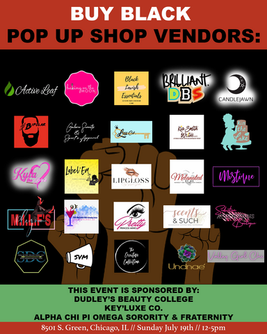 Chicago Buy Black Pop Up Shop - Active Leaf, Sea Moss