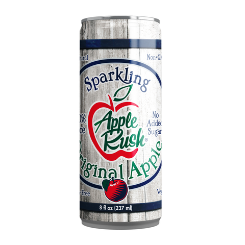 Original Apple 8 Fl Oz Cans (4 Count) - Apple Rush Sparkling Juice Blends - Free US Shipping