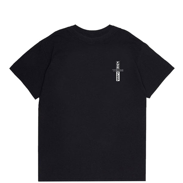 OTW X TFS LOGO T-SHIRT BLACK - OUTTATHISWORLD