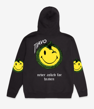 TIAVO HOODIE SMILEY BLACK - OUTTATHISWORLD