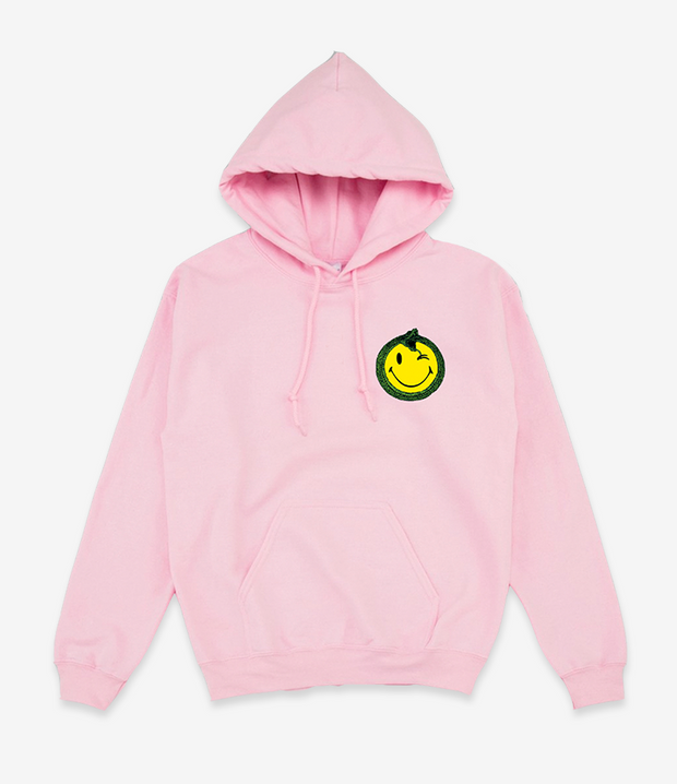 TIAVO HOODIE SMILEY PINK - OUTTATHISWORLD