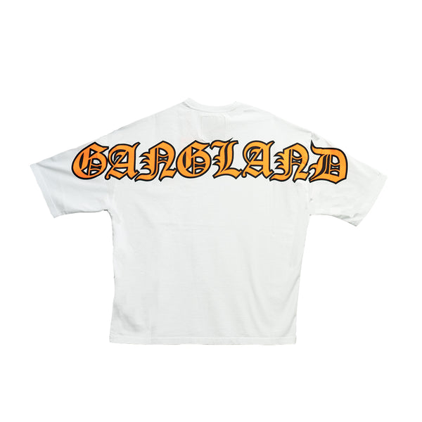 GANGLAND T-SHIRT WHITE - OUTTATHISWORLD