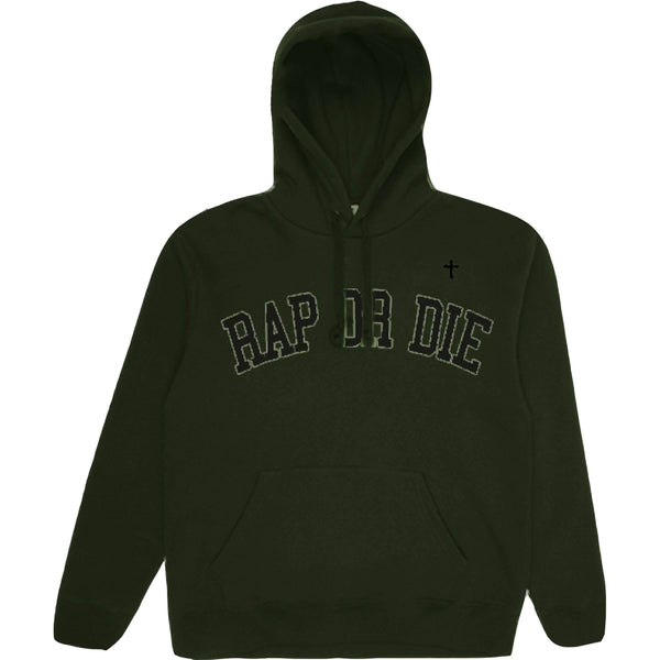GENETIKK RAP OR DIE HOODIE  MILITARY GREEN - OUTTATHISWORLD