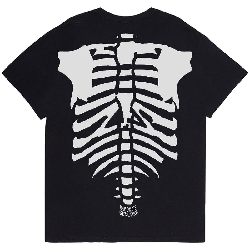 SKELETON TEE BLACK - OUTTATHISWORLD