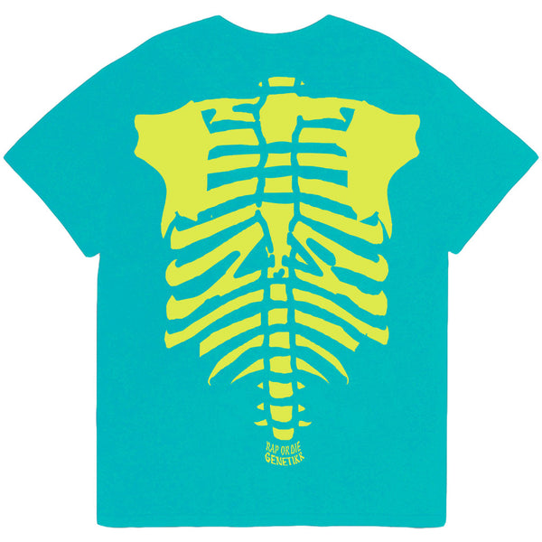 SKELETON TEE TEAL - OUTTATHISWORLD