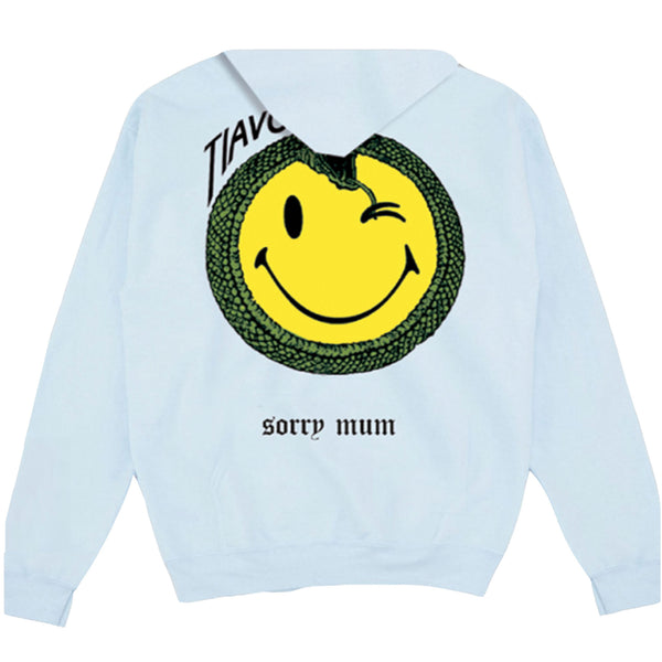 TIAVO HOODIE BABYBLUE SMILEY - OUTTATHISWORLD