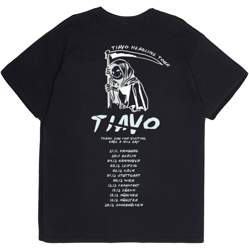 TIAVO TOUR TEE BLACK - OUTTATHISWORLD