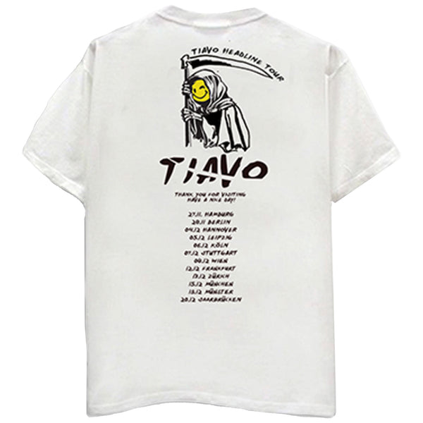 TIAVO TOUR TEE WHITE - OUTTATHISWORLD