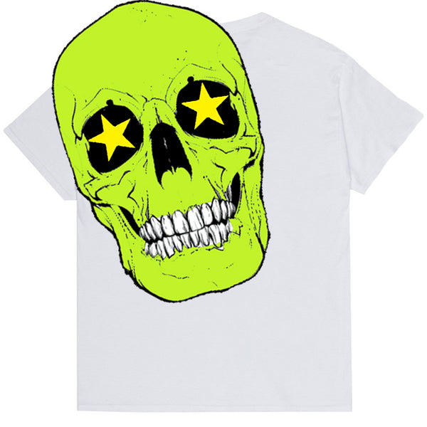 SKELETON TEE WHITE - OUTTATHISWORLD