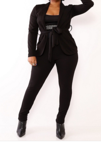 NICE N EASY BLACK 2 PIECE SET - spazz26